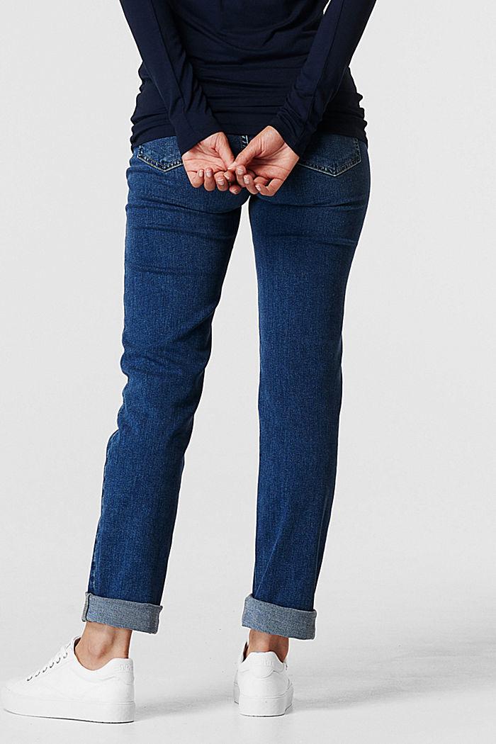 Stretch-Jeans mit Überbauchbund, BLUE MEDIUM WASHED, detail image number 3