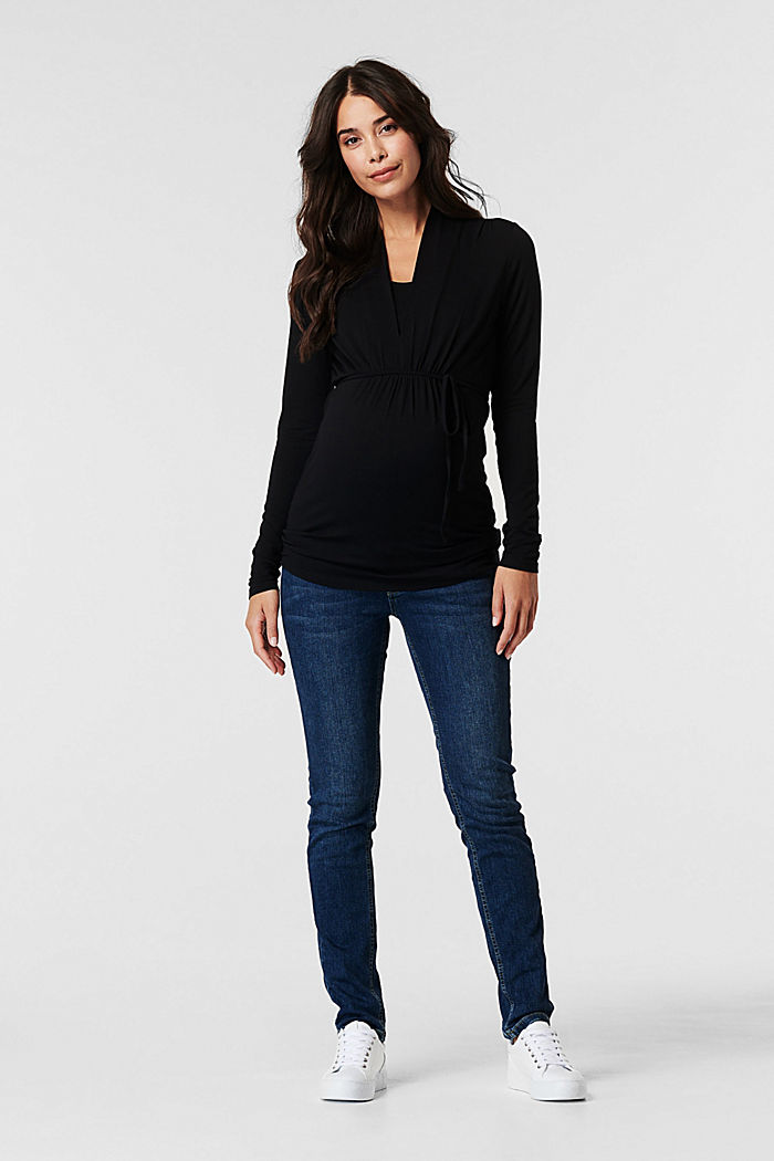 Stretch-Jeans mit Überbauchbund, BLUE MEDIUM WASHED, detail image number 0