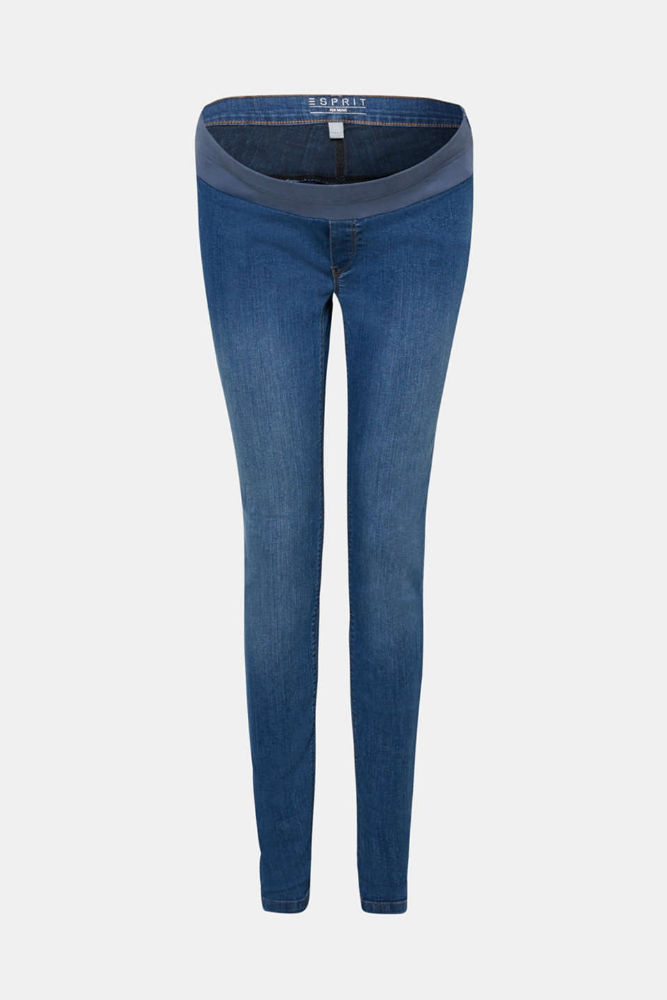 Esprit - Stretch jeggings with an under-bump waistband