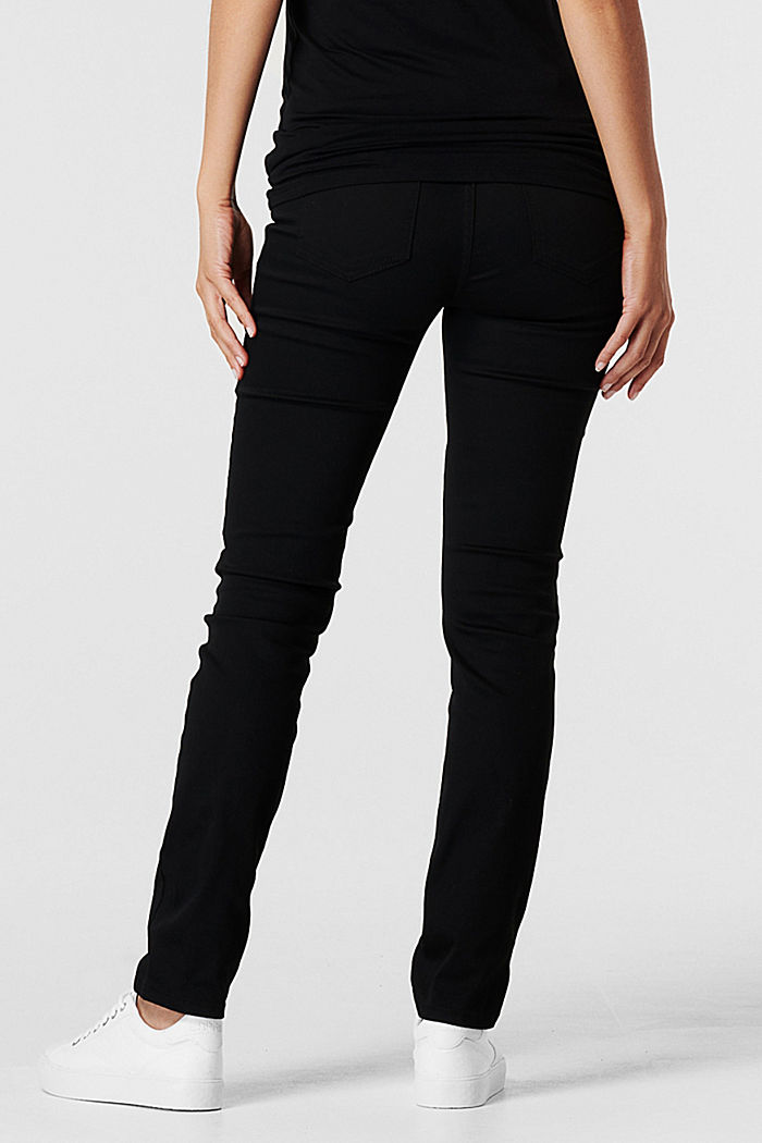 Stretch trousers with an over-bump waistband, BLACK, detail image number 2