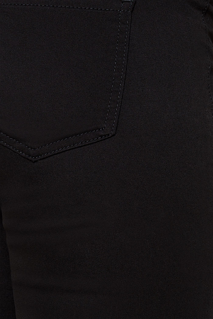 Stretch trousers with an over-bump waistband, BLACK, detail image number 3