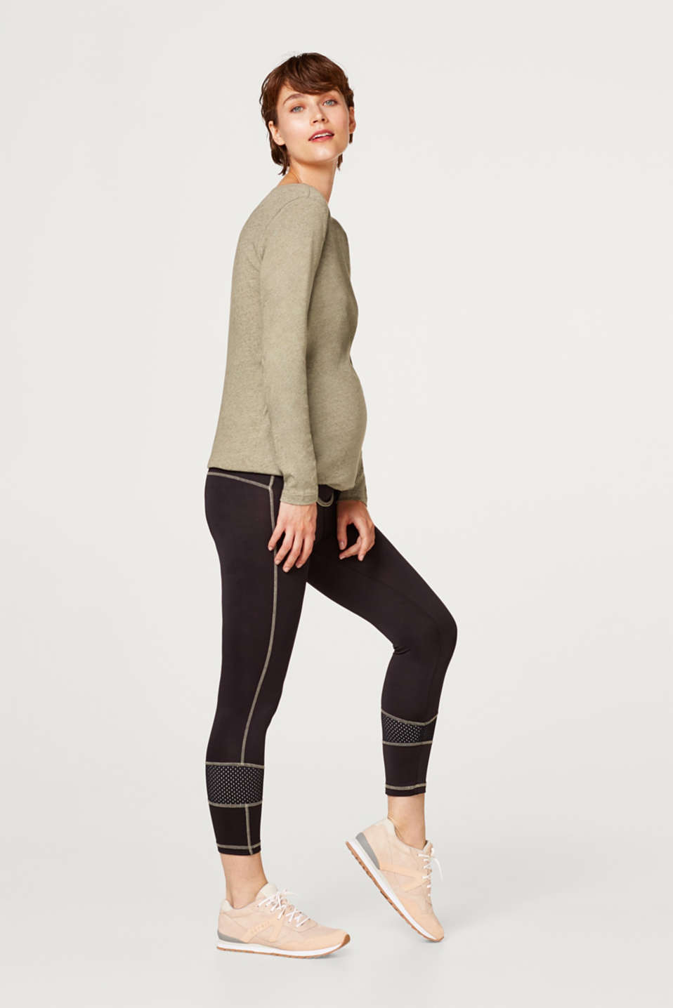 High-performance leggings with mesh details, LCBLACK, detail image number 1