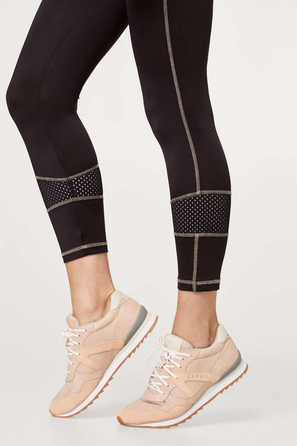 High-performance leggings with mesh details, LCBLACK, detail image number 2
