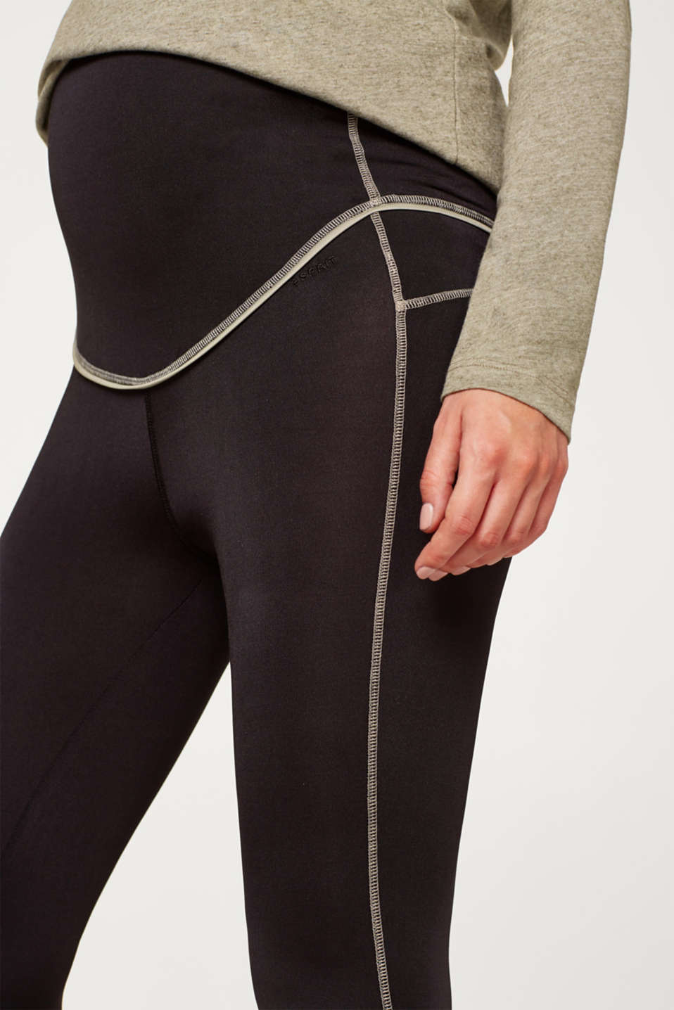 High-performance leggings with mesh details, LCBLACK, detail image number 5