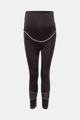 High-performance leggings with mesh details, LCBLACK, detail