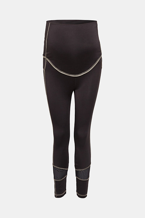 High-performance leggings with mesh details