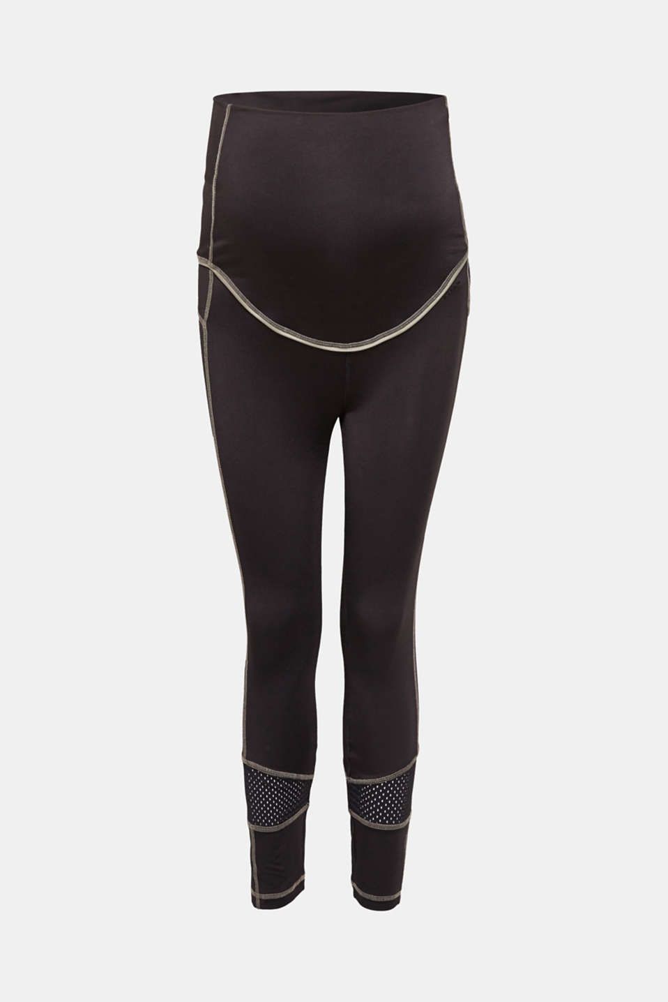 High-performance leggings with mesh details, LCBLACK, detail image number 6