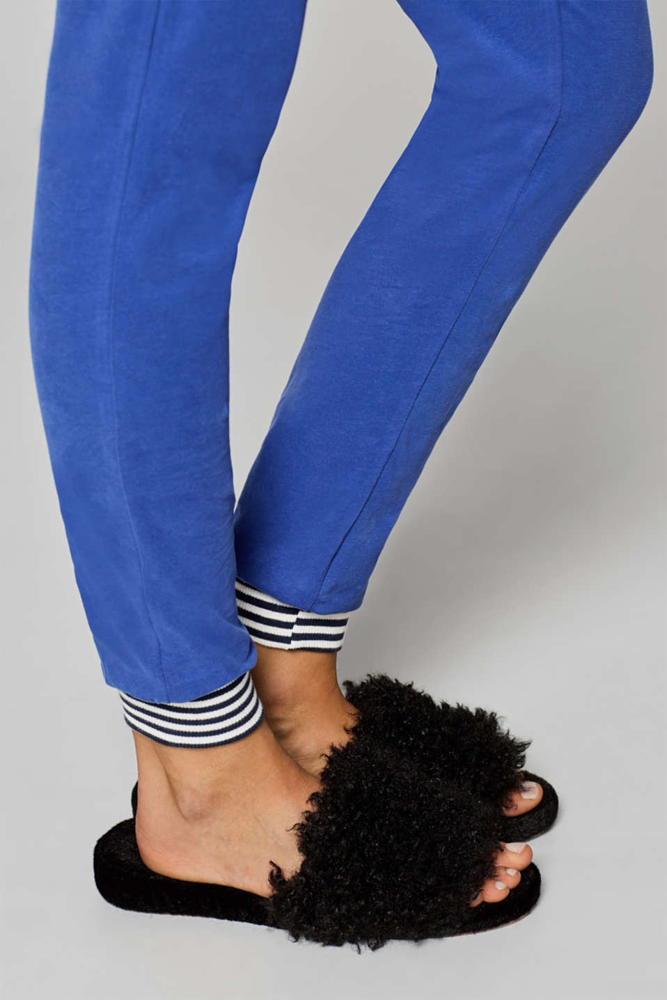 Stretch jersey trousers with an under-bump waistband, LCELECTRIC BLUE, detail image number 2