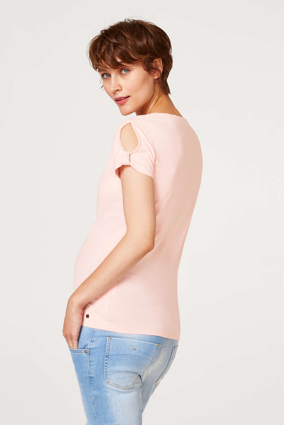 100% cotton T-shirt with cut-outs, LCLIGHT PINK, detail image number 3