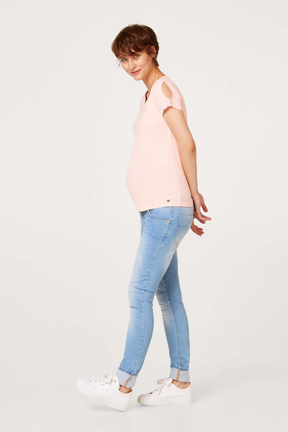 100% cotton T-shirt with cut-outs, LCLIGHT PINK, detail image number 5