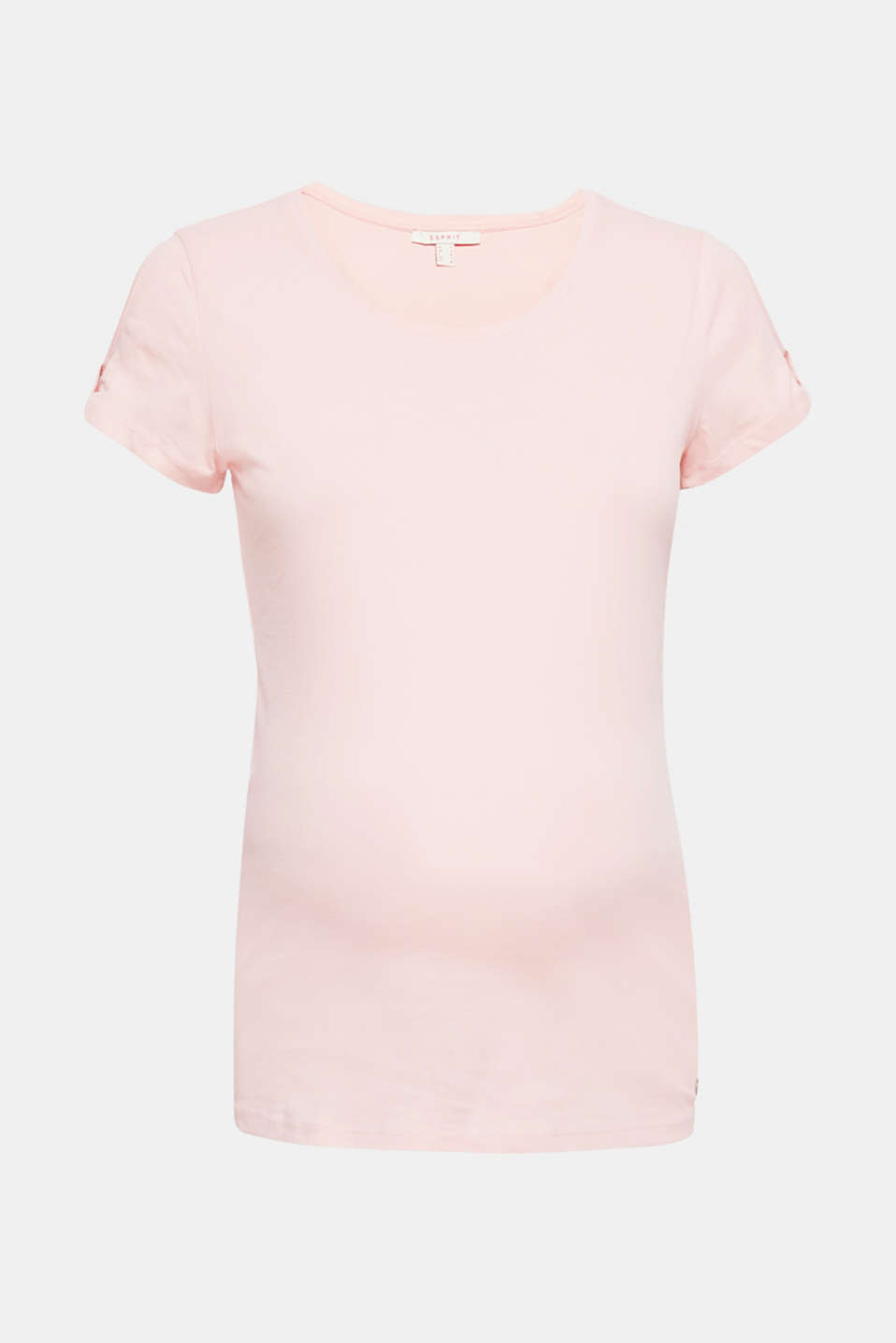 This versatile cotton top features cut-outs on the short sleeves for that certain something!