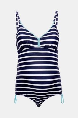 Padded swimsuit with gathered ties, LCNIGHT BLUE, detail