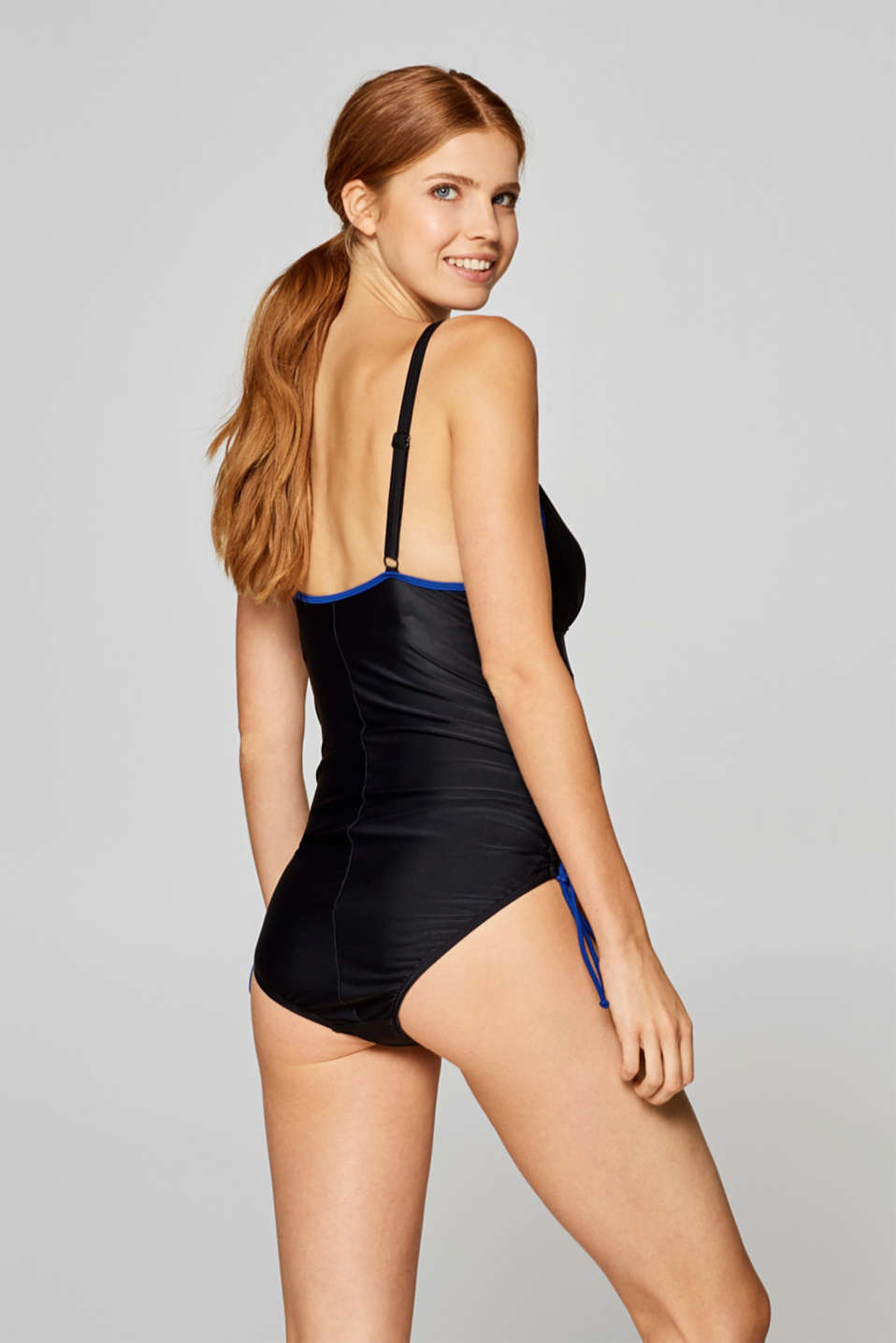 Padded swimsuit with contrasting trims