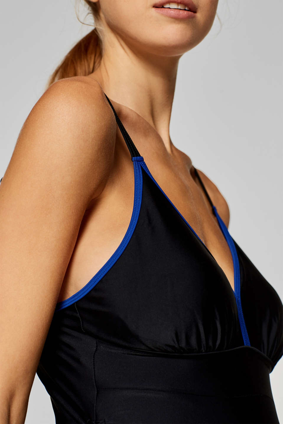 Padded swimsuit with contrasting trims, LCBLACK, detail image number 2