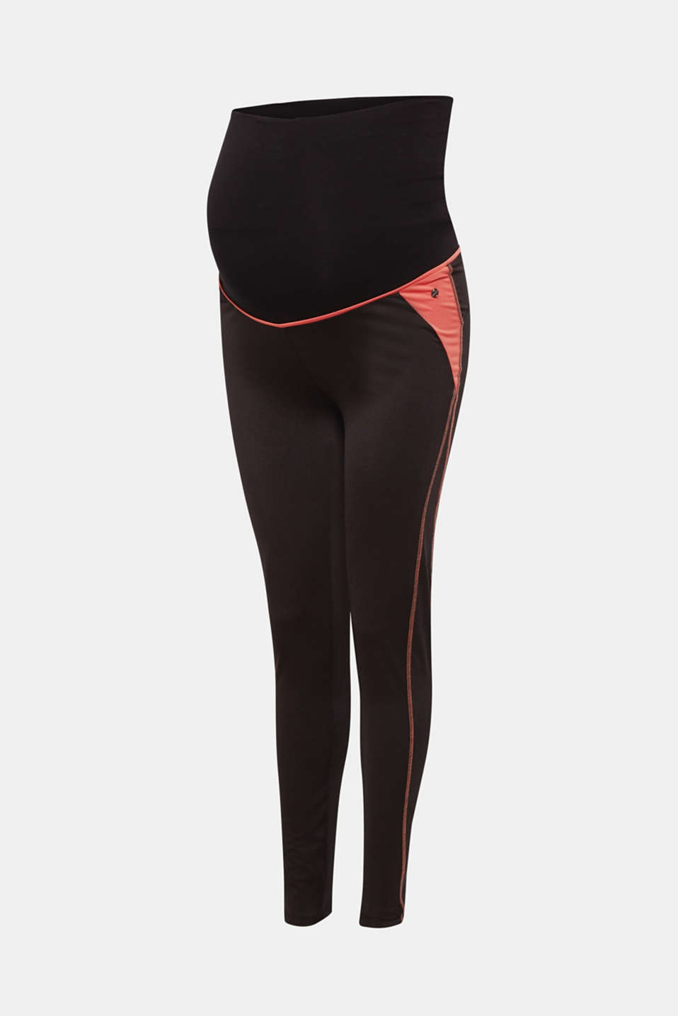 Active leggings with an over-bump waistband, LCBLACK, detail image number 6