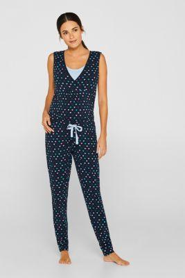 Mix + match pyjama bottoms with an under-bump waistband, LCNIGHT BLUE, detail