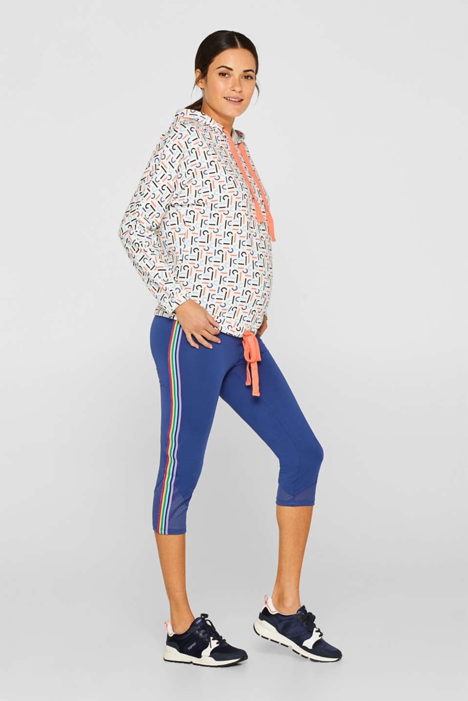 Leggings with an over-bump waistband, LCDARK BLUE, detail image number 0