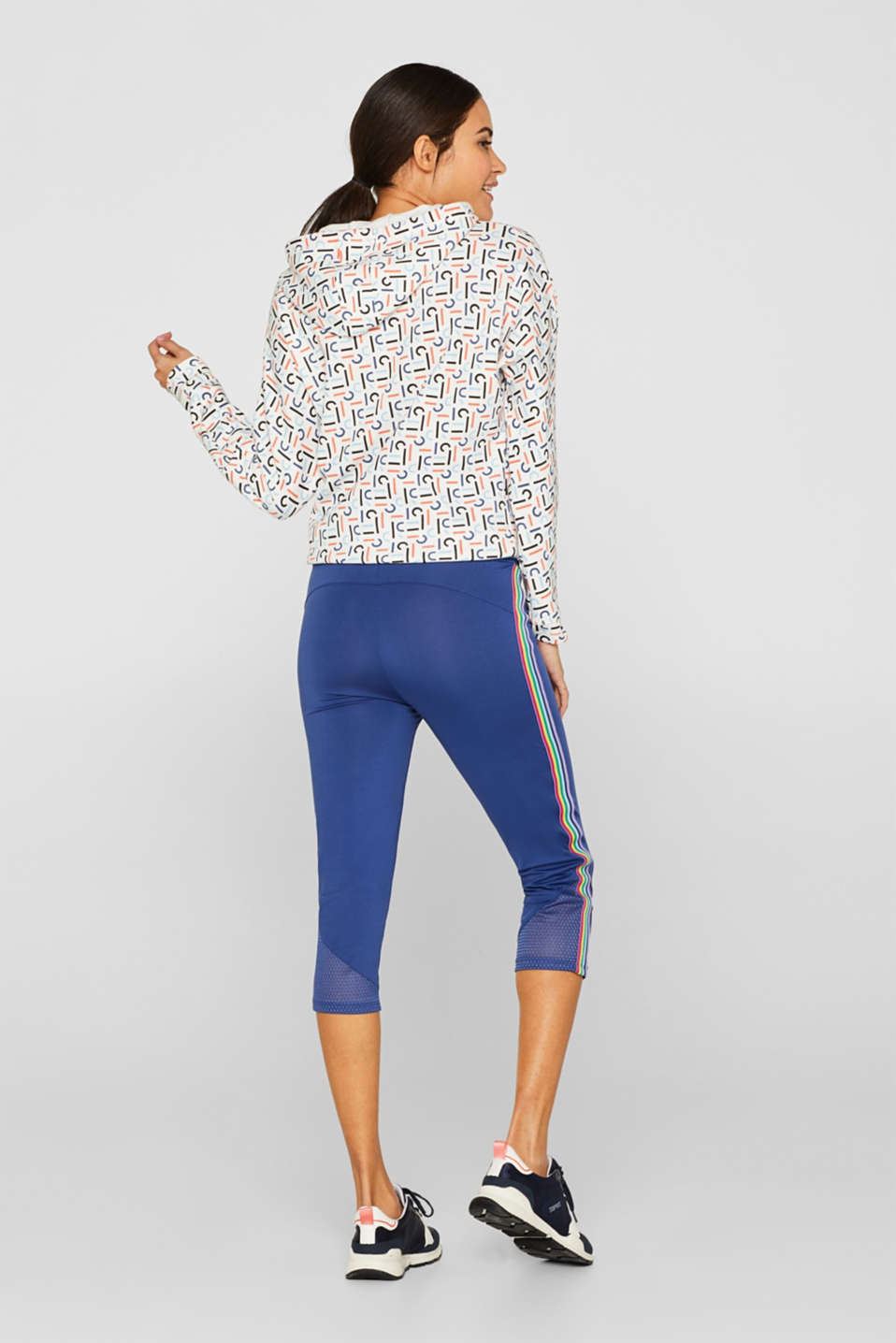 Leggings with an over-bump waistband, LCDARK BLUE, detail image number 3