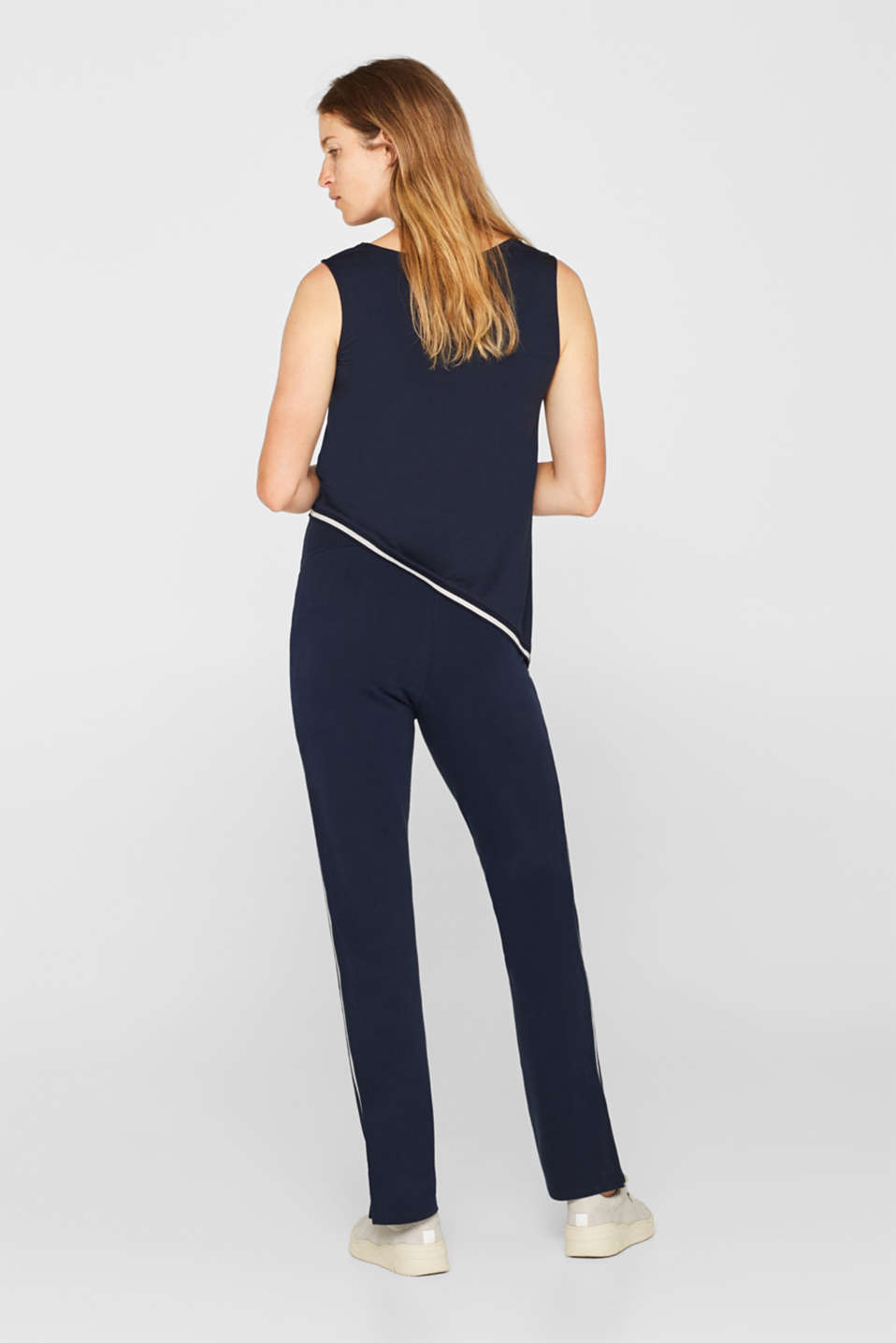 Stretch jersey trousers with racing stripes, LCNIGHT BLUE, detail image number 3