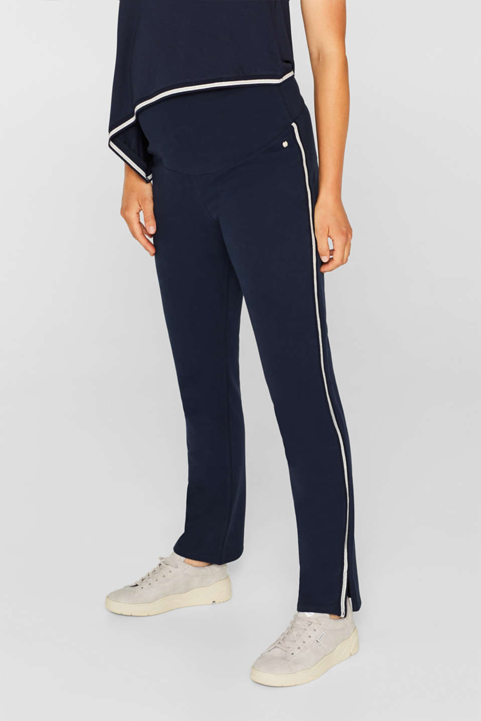 Stretch jersey trousers with racing stripes, LCNIGHT BLUE, detail image number 5