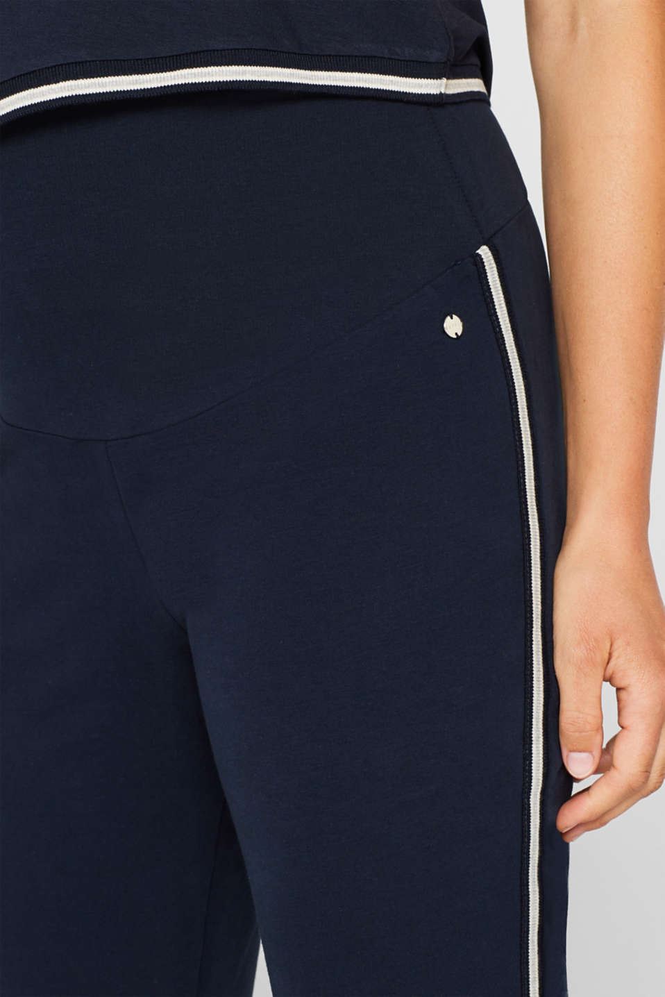 Stretch jersey trousers with racing stripes, LCNIGHT BLUE, detail image number 2