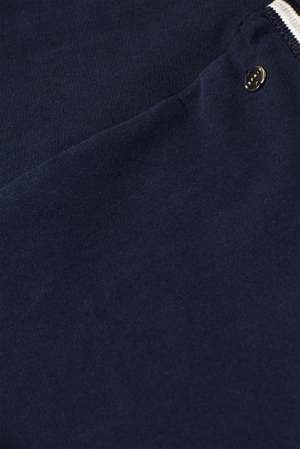 Stretch jersey trousers with racing stripes, LCNIGHT BLUE, detail image number 4
