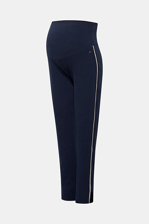 Stretch jersey trousers with racing stripes