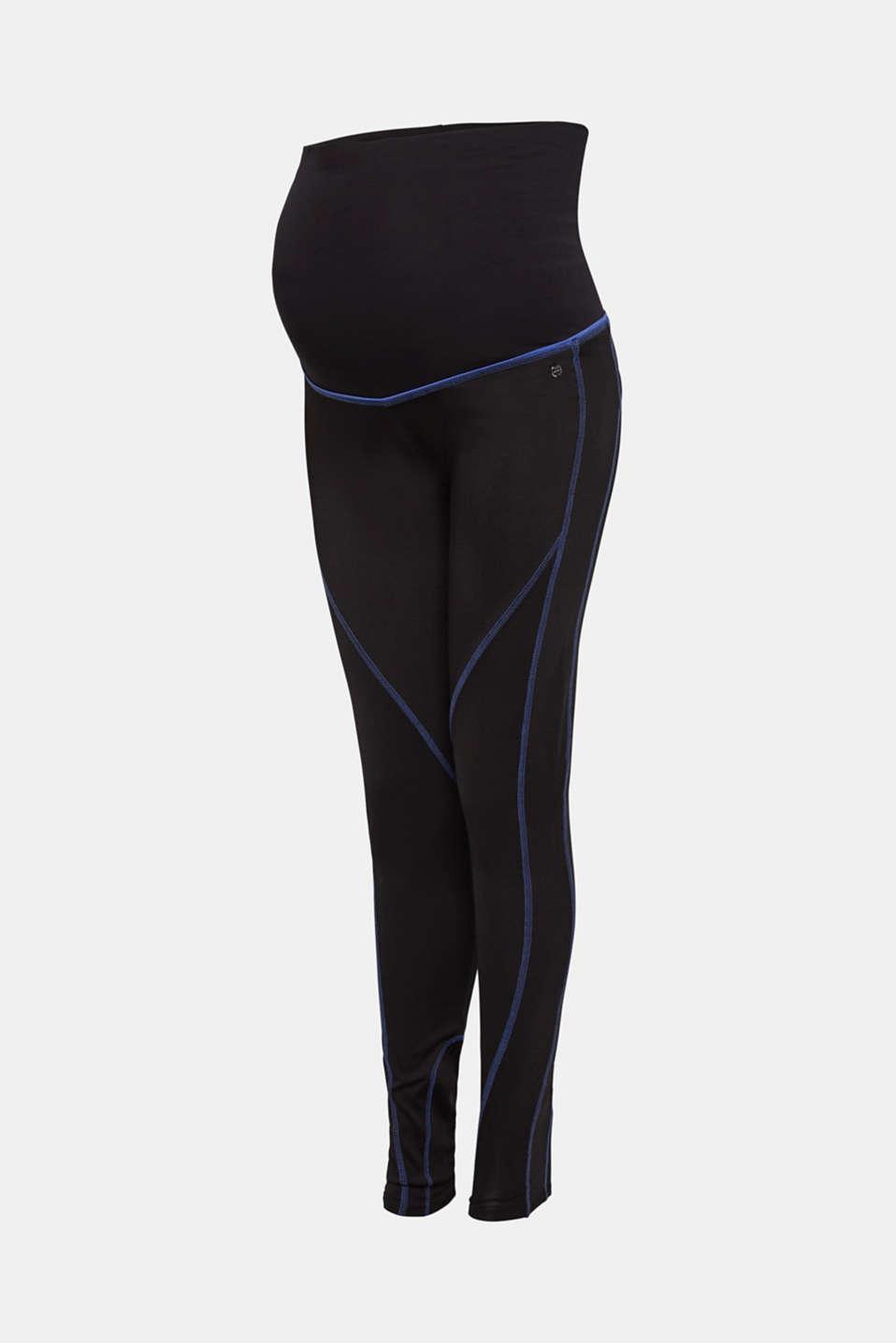Leggings with contrasting stitching, over-bump waistband, LCBLACK, detail image number 6
