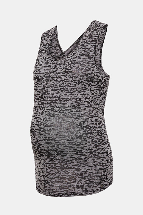 Burnt-out top with cross-over straps