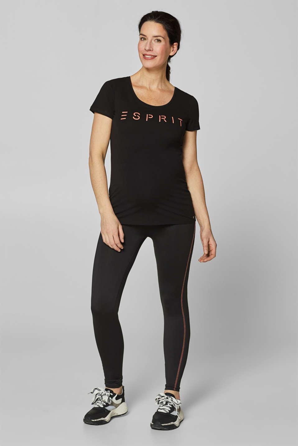 Stretch T-shirt with a neon logo, LCBLACK, detail image number 0