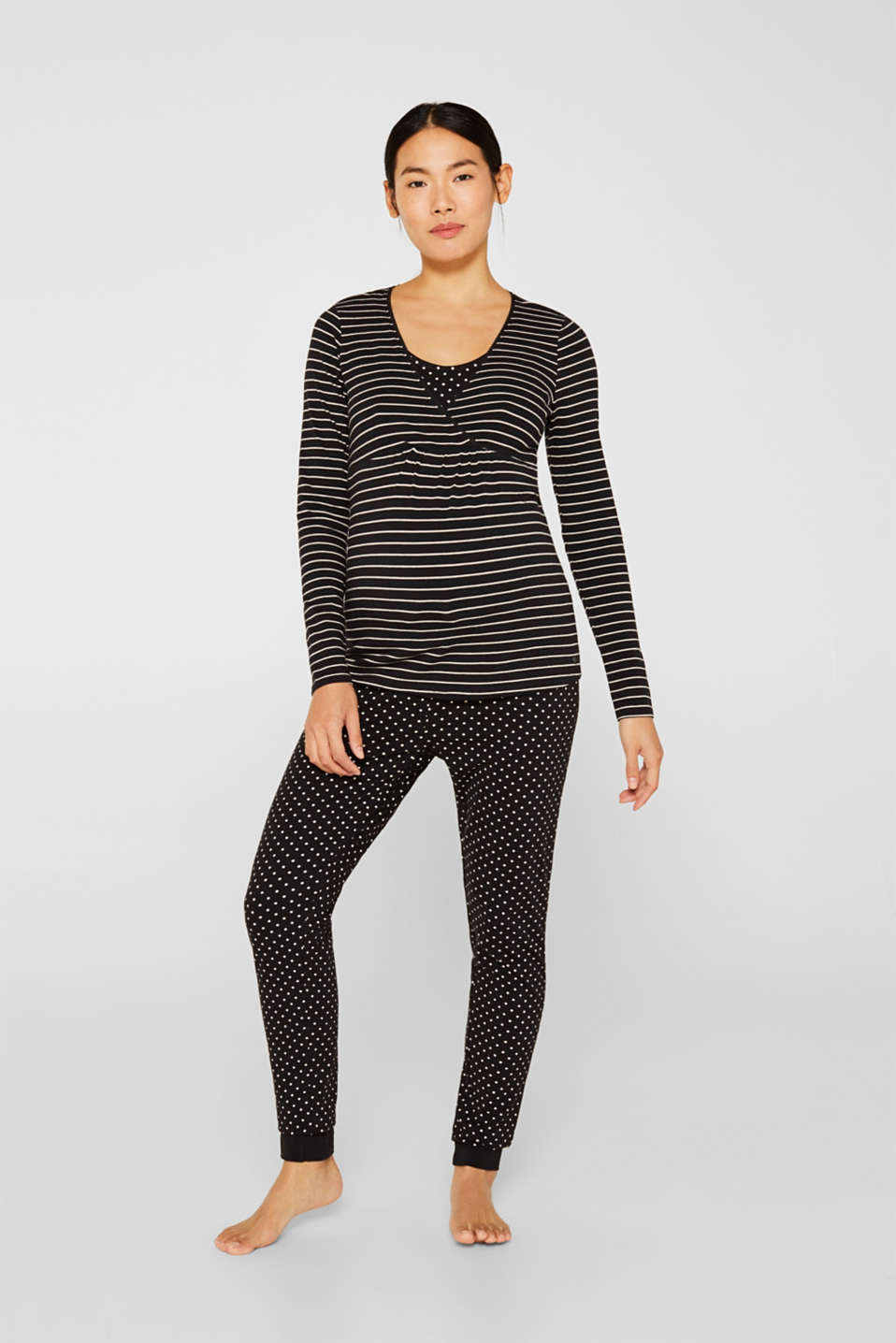 Esprit - Stretch-Longsleeve mit Stillfunktion