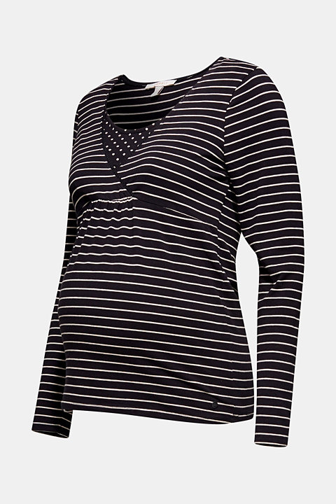 Stretch long sleeve nursing top