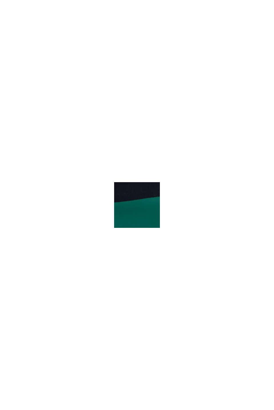 Väripalkein somistetut shortsit, EMERALD GREEN, swatch