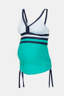 Padded tankini in a colour block look, LCEMERALD GREEN, detail