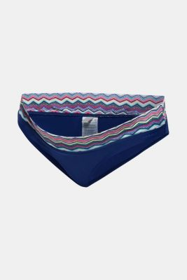 Briefs with a patterned waistband, LCDARK BLUE, detail