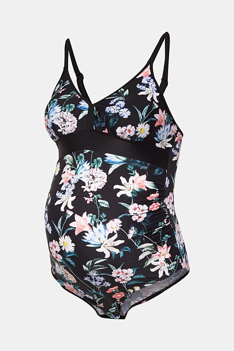 Patterned swimsuit with padded cups