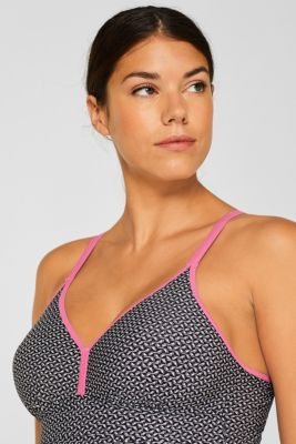 Padded swimsuit with a mini print, LCBLACK, detail