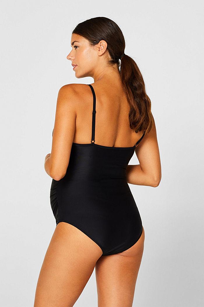 Swimsuit with a V-neckline, BLACK, detail image number 1