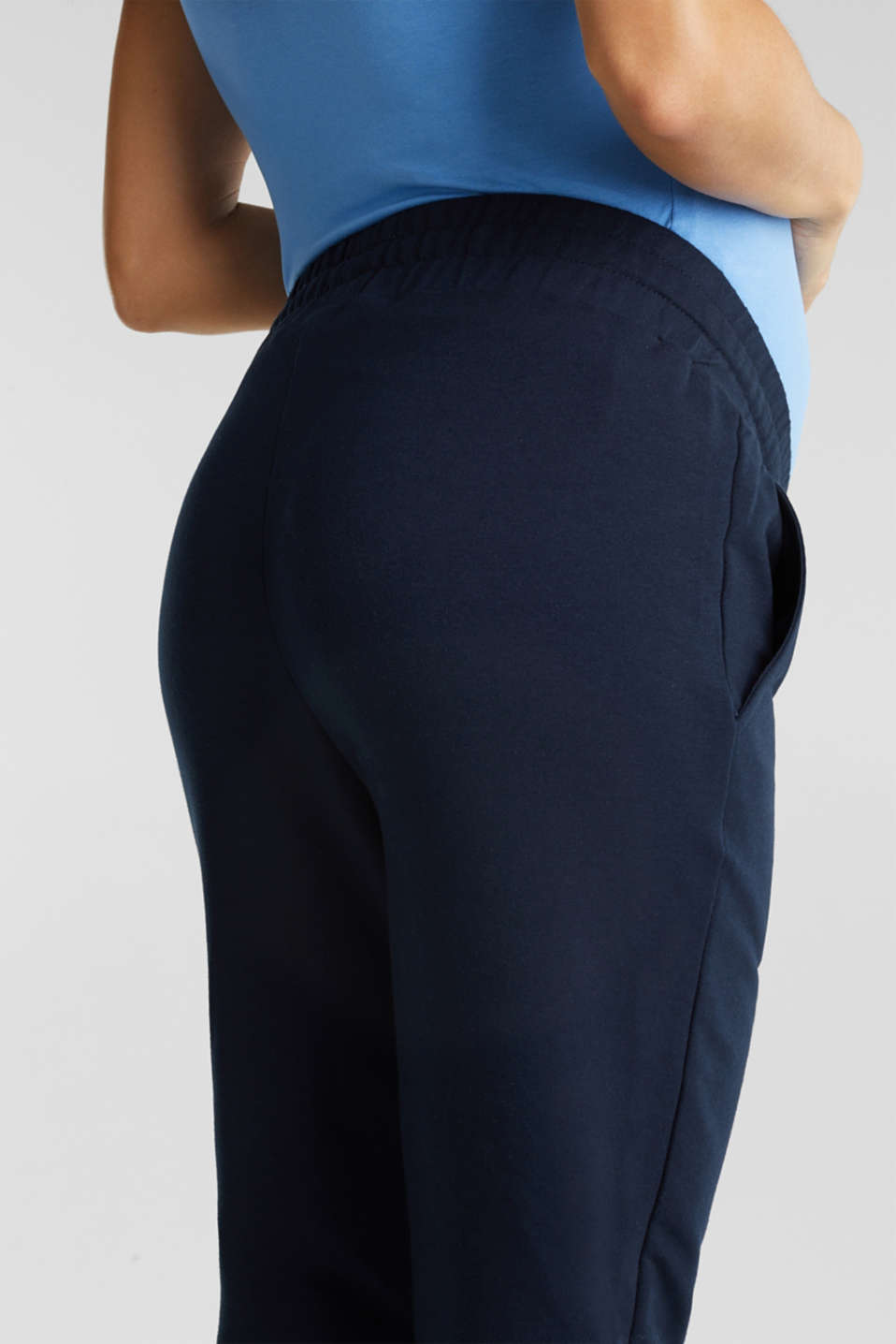 Tracksuit bottoms with an under-bump waistband, LCNIGHT BLUE, detail image number 4