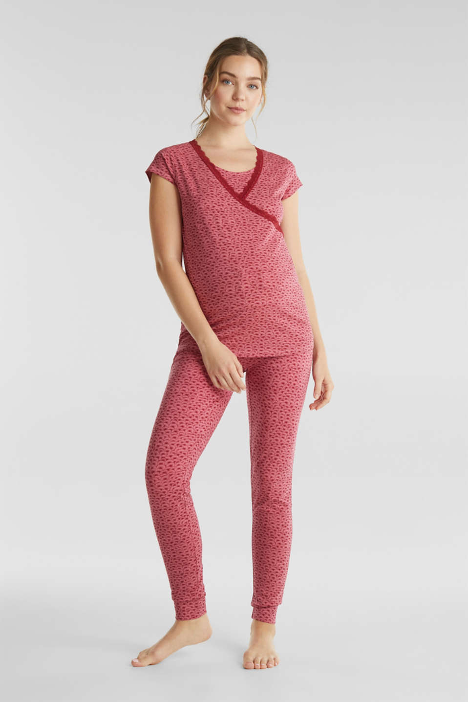 Stretch jersey trousers with an under-bump waistband, LCBLUSH, detail image number 1
