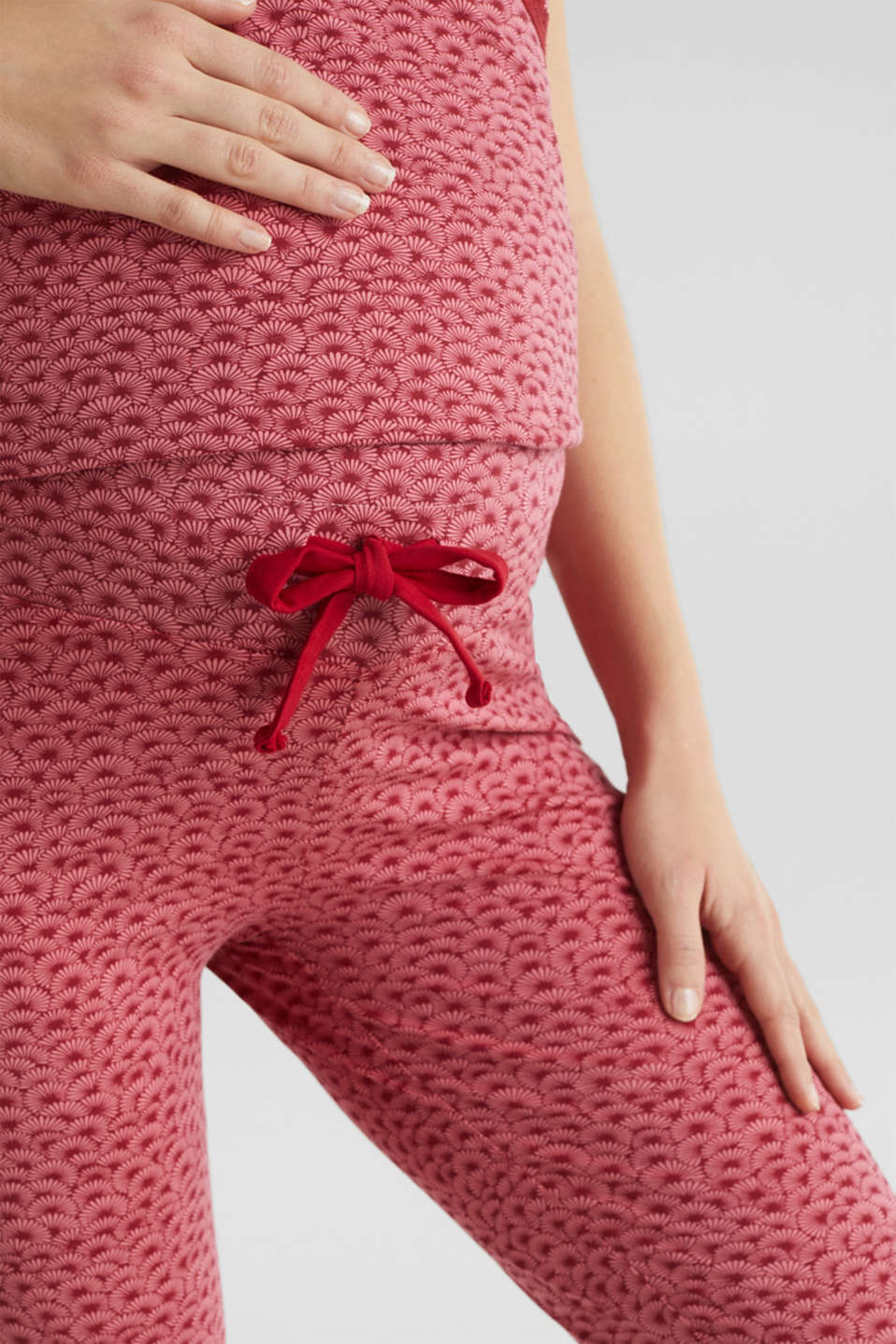 Stretch jersey trousers with an under-bump waistband, LCBLUSH, detail image number 2