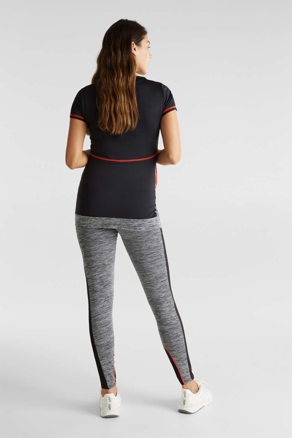 Colour block leggings with an over-bump waistband, LCBLACK, detail image number 4