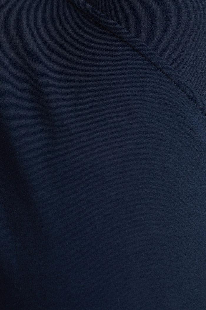 Stretch cotton sweatshirt, NIGHT BLUE, detail image number 4