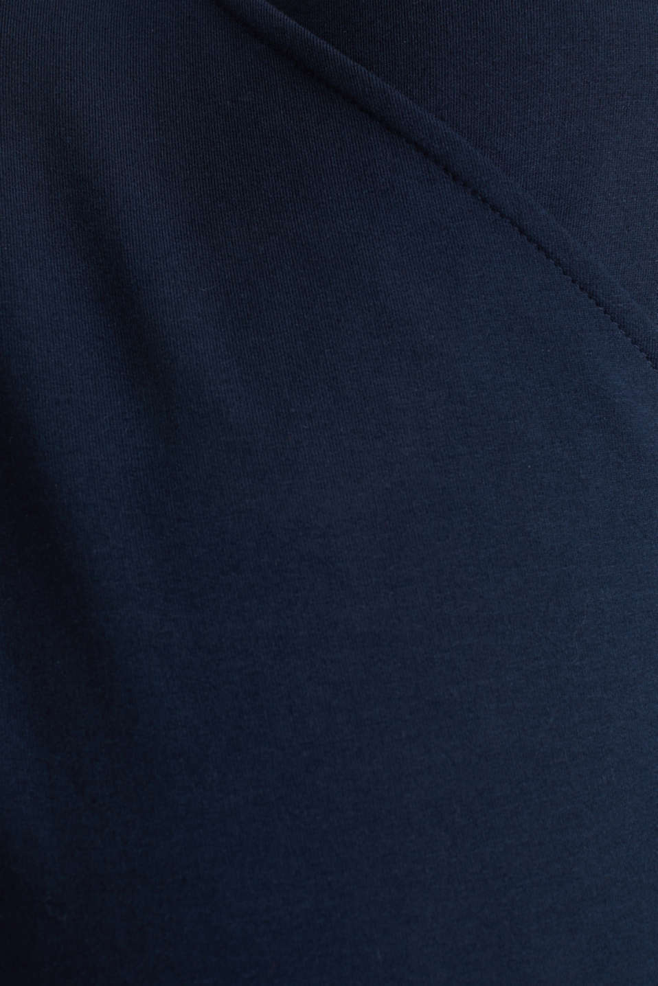 Stretch cotton sweatshirt, LCNIGHT BLUE, detail image number 4