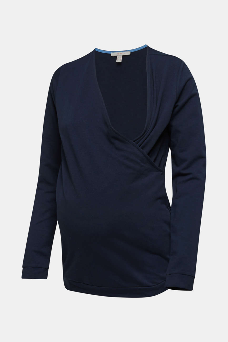 Stretch cotton sweatshirt, LCNIGHT BLUE, detail image number 5