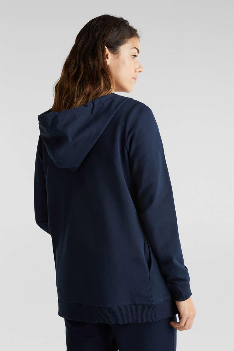 3-way, hooded sweatshirt jacket, LCNIGHT BLUE, detail image number 3