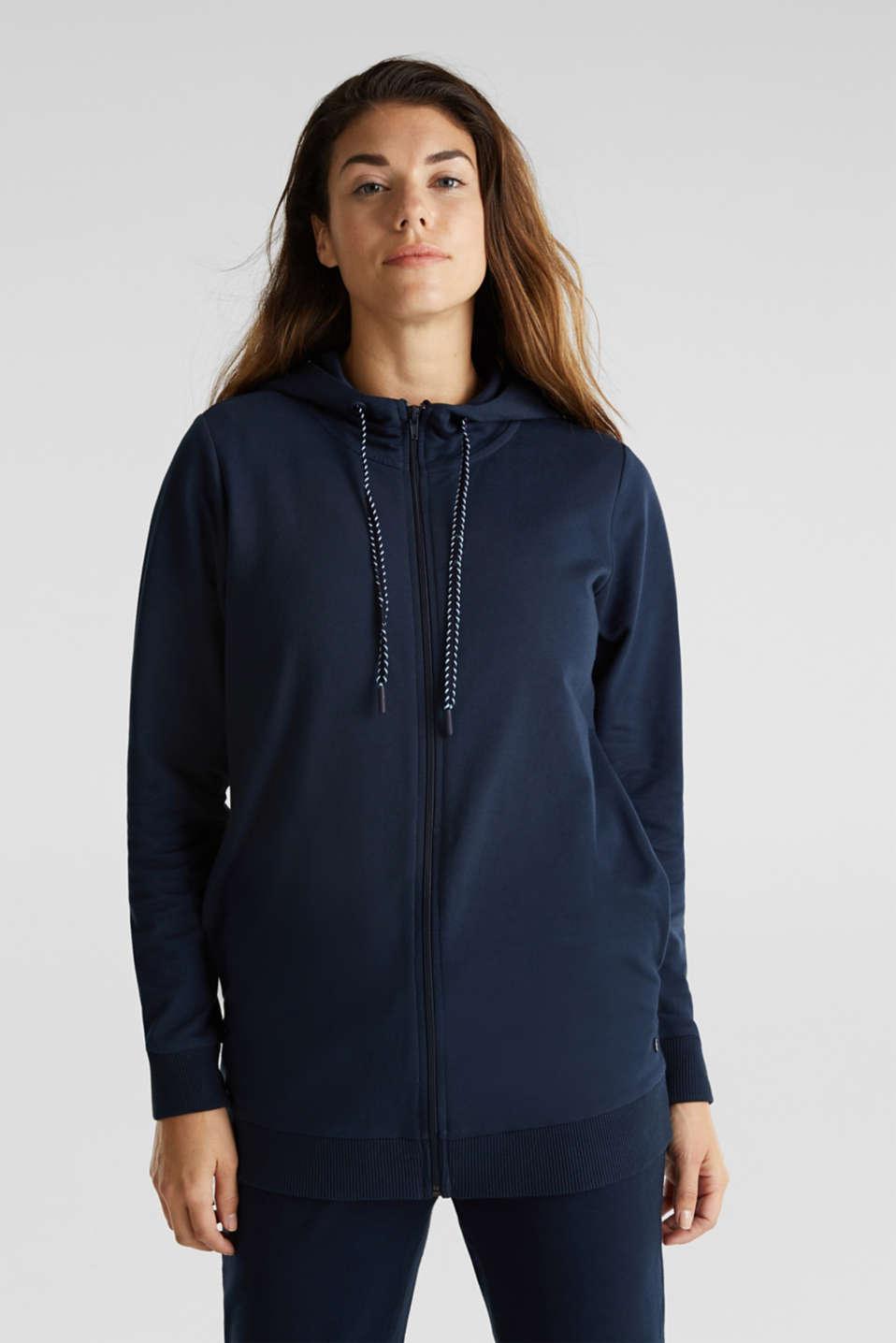 3-way, hooded sweatshirt jacket, LCNIGHT BLUE, detail image number 1