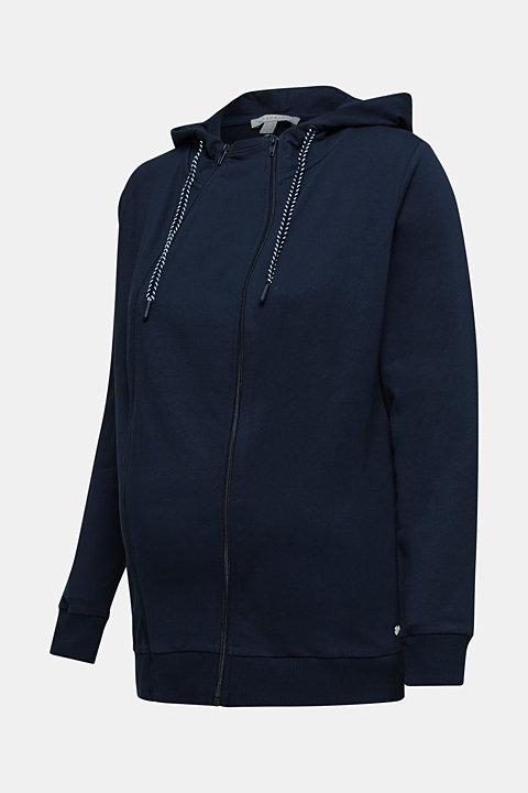 3-way, hooded sweatshirt jacket