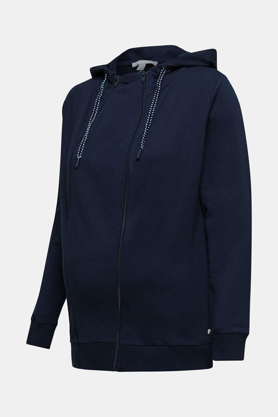 3-way, hooded sweatshirt jacket, LCNIGHT BLUE, detail image number 4
