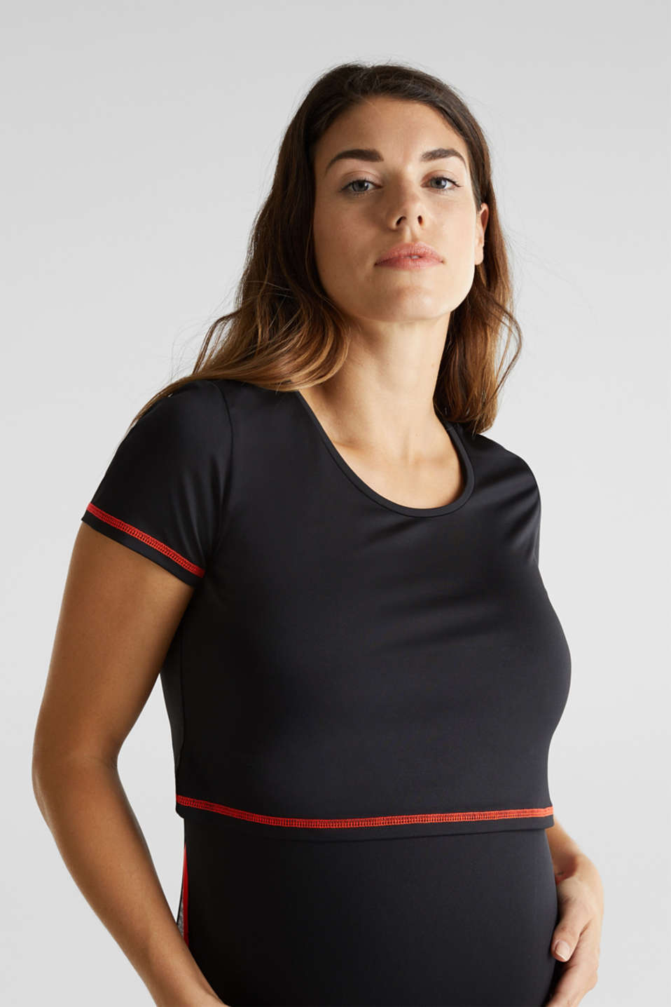 Layered top in a colour block look, LCBLACK, detail image number 2